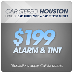 $199 alarm & tint special. Restrictions apply, call for details.